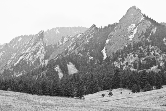 Three_Giant_Flatirons_View_Boulder_Colorado_BW