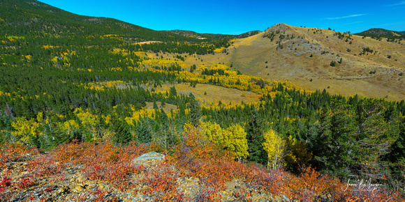 Boulder County Colorado Autumn Panoramic View