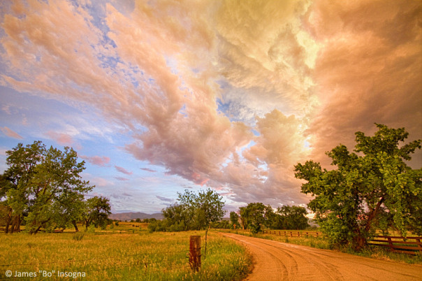 Country Road Into The Storm Front