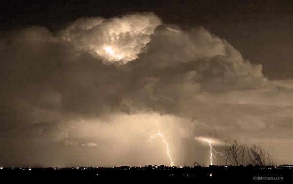 SepiaThunderstorm Boulder County Colorado