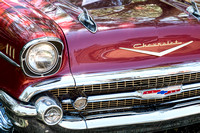 1957 Chevrolet Burgundy Bel Air Front Chrome
