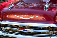 1957 Chevrolet Burgundy Bel Air Front Close-Up
