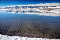 Colorado Boulder Reservoir Winter Scenic View