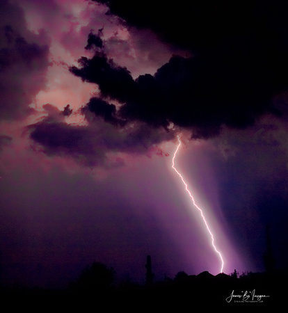 Lightning Thunderstorm strike. Color image.