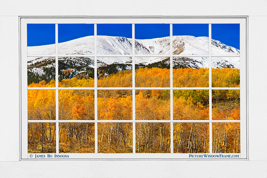 Colorado Rocky Mountain Autumn Pass White Window View