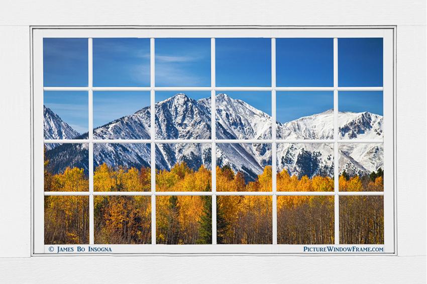 Rocky Mountain Autumn High White Picture Window