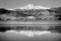 Twin-Peaks-McCall-Reservoir-Reflection-bw