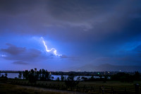 Lightning Striking Over Boulder Reservoir