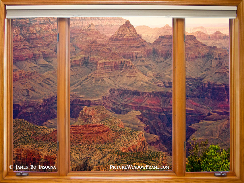 Colorful Grand Canyon Modern Wood Picture Window Frame